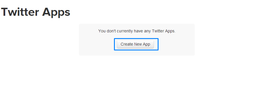 Twitter Login - Create New Twitter App