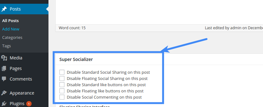 Social Share - Disable Social Sharing On Post