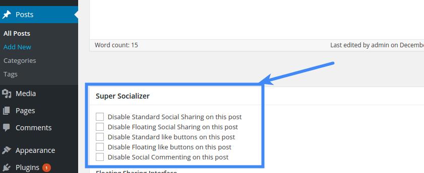 Social Share - Disable Social Sharing On Post