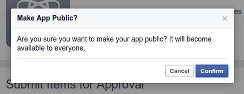 Facebook Login - Facebook App Public