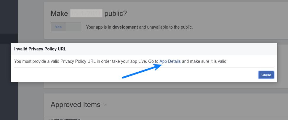 Facebook Login - App Details