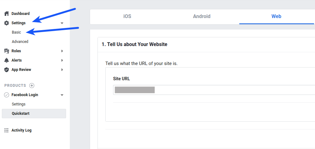 Facebook Login Basic Settings