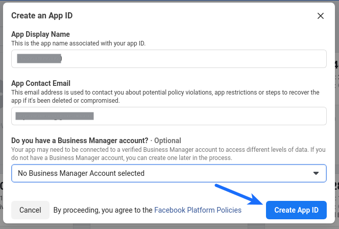 Facebook Login - Create an App ID
