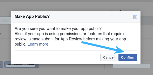 Facebook Login - Make App Public