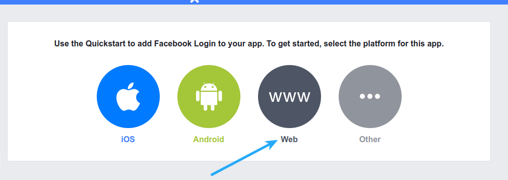 Facebook Login - Select Platform