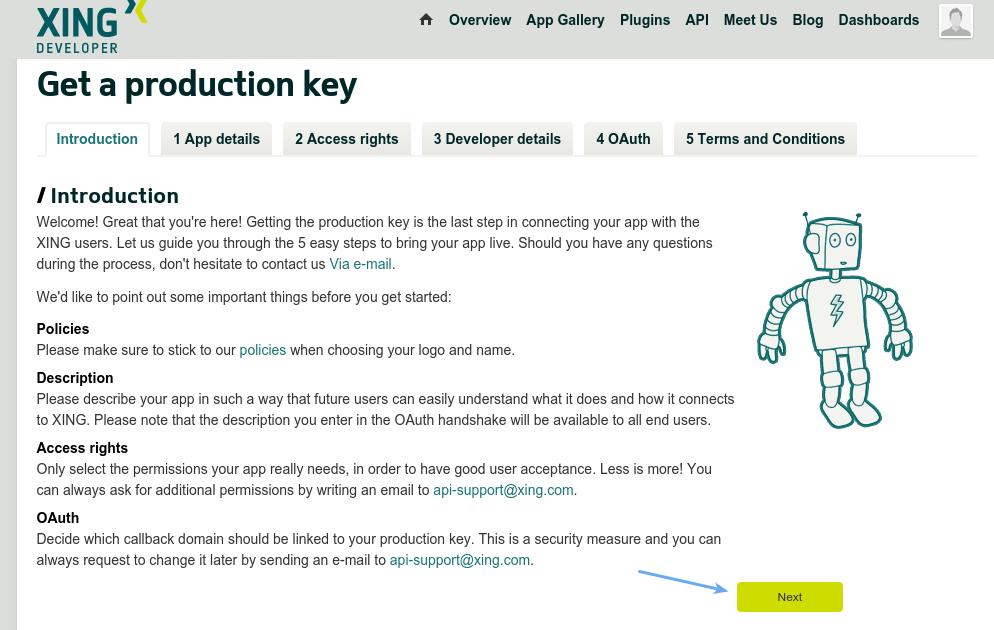 Xing Login - Get Xing Production Key Introduction
