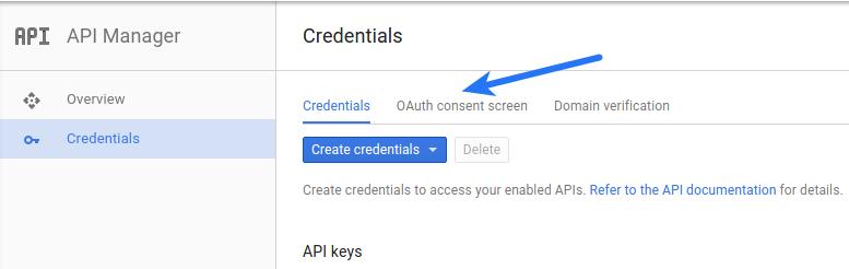 Google App Consent Screen Menu