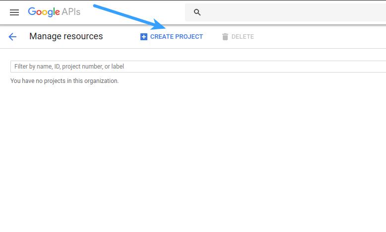 Google Login - Create Project
