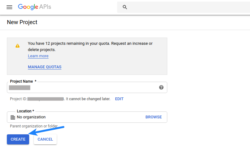 Google Login - New Project