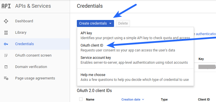 Google Login OAuth Client ID