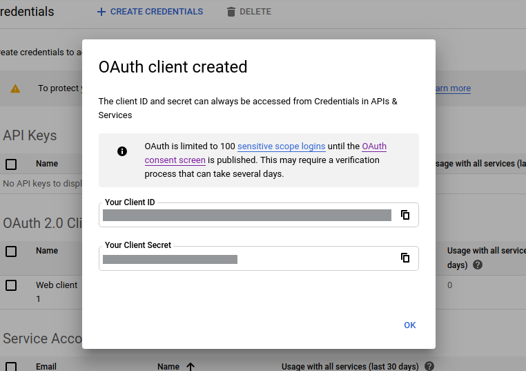 Google Login Oauth Client ID