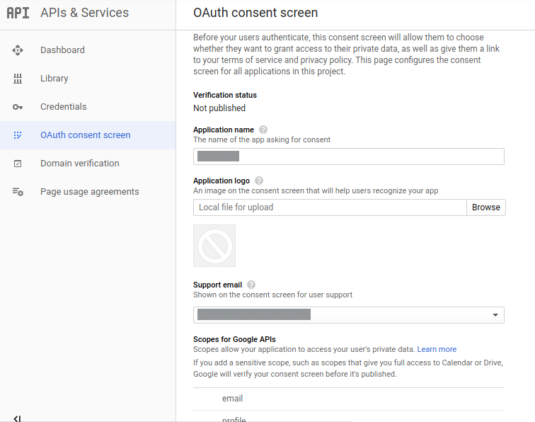 Google Login Oauth Consent Screen