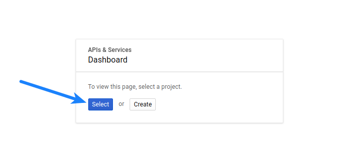 Google Login - Select Project 2