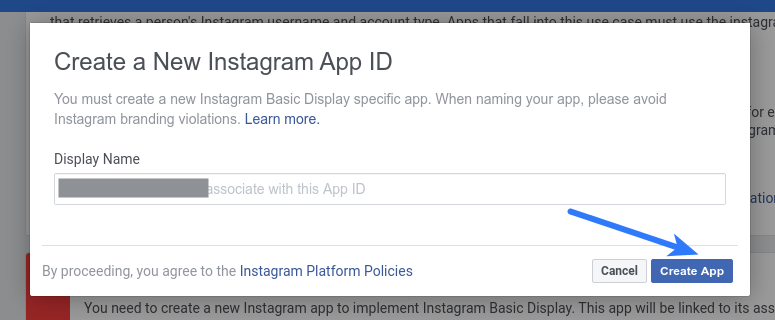 Instagram Login - Create New Instagram app ID