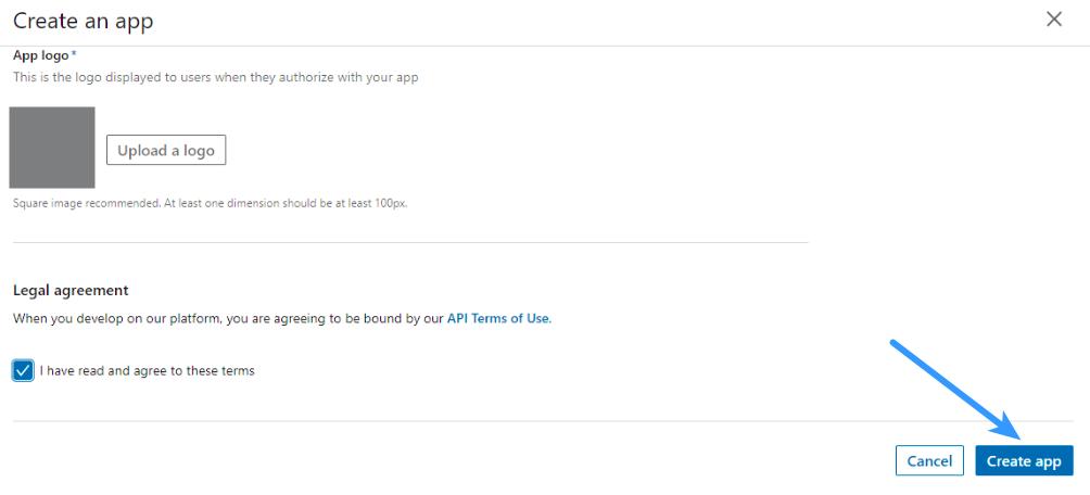 Linkedin Login - App Settings