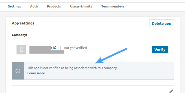 Linkedin Login Verify App