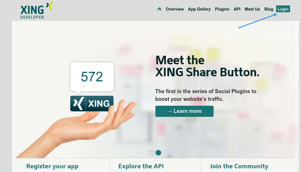 Xing Login - Developer