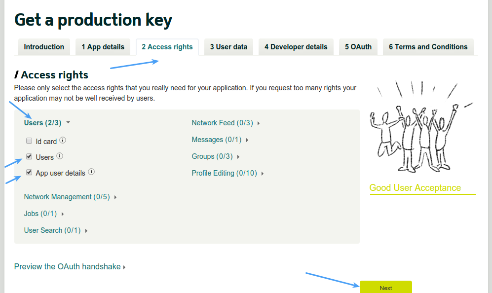 Xing Login - Xing App Access Rights