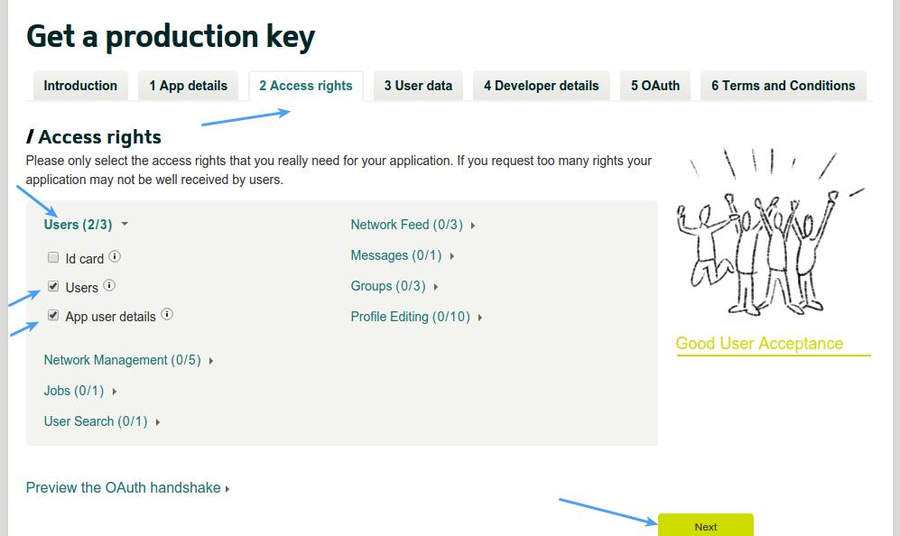 Xing Login - Xing App Access Rights