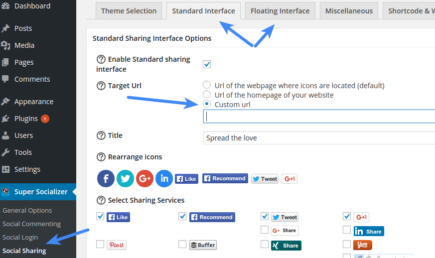 Share Specific Page - Sharing Target Url