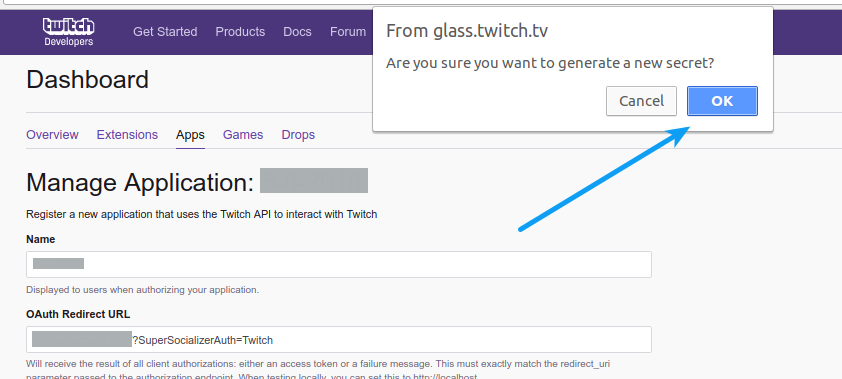 Twitch Login - New Secret