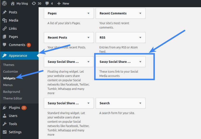 Sassy Social Share Premium - Social Media Follow Widget