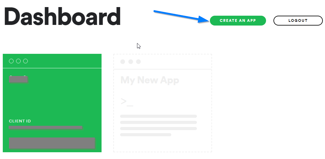 Spotify Client ID - Spotify Developer Dashboard