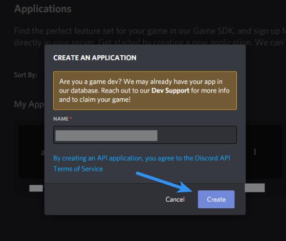Discord Client ID - Create An Application